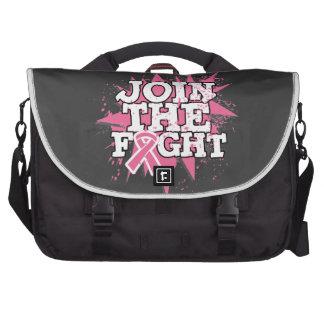 El cáncer de pecho se une a la lucha bolsas de portátil