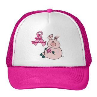 el cáncer de pecho sobrevivirá el cerdo gorro