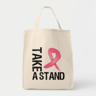 El cáncer de pecho toma un soporte bolsas lienzo