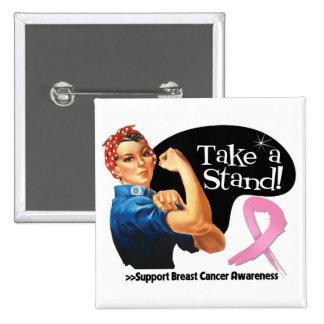 El cáncer de pecho toma un soporte pin cuadrado