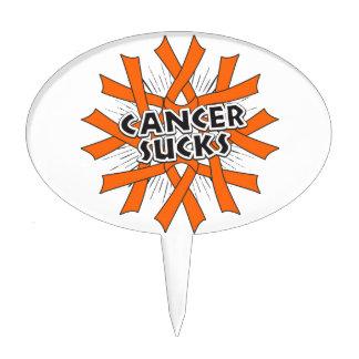 El cáncer de piel chupa cintas anaranjadas palillos de tarta