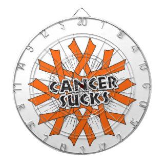 El cáncer de piel chupa cintas anaranjadas tablero dardos