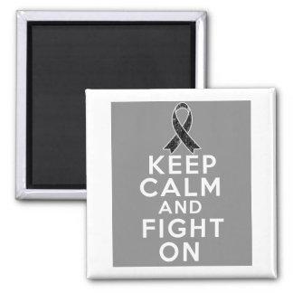 El cáncer de piel guarda calma y sigue luchando imán cuadrado