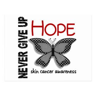El cáncer de piel nunca da para arriba la mariposa tarjetas postales