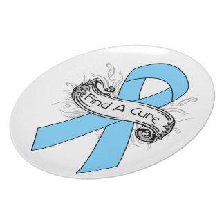 El cáncer de próstata encuentra una cinta de la cu plato para fiesta