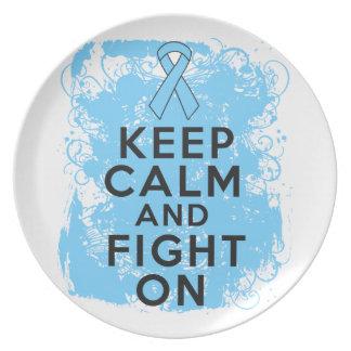 El cáncer de próstata guarda calma y sigue luchand plato para fiesta