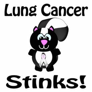 El cáncer de pulmón apesta diseño de la conciencia escultura fotográfica