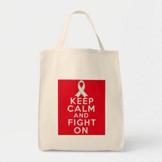 El cáncer de pulmón guarda calma y sigue luchando bolsa de mano