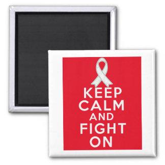 El cáncer de pulmón guarda calma y sigue luchando imán cuadrado