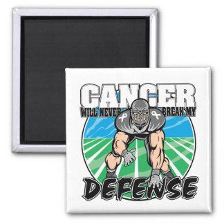 El cáncer de pulmón nunca romperá mi defensa imán cuadrado