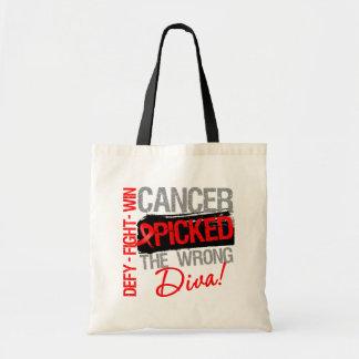 El cáncer de sangre escogió a la diva incorrecta bolsa tela barata