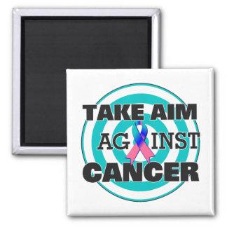 El cáncer de tiroides toma objetivo contra cáncer imán cuadrado