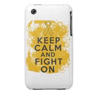 El cáncer del apéndice guarda calma y sigue luchan iPhone 3 Case-Mate funda