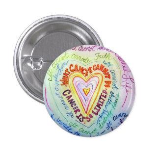El cáncer del corazón del arco iris no puede hacer pin redondo de 1 pulgada