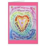 El cáncer del corazón del arco iris no puede hacer tarjetón