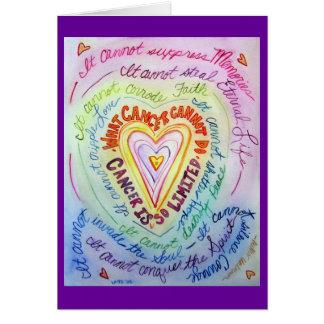 El cáncer del corazón del arco iris no puede hacer tarjeta pequeña