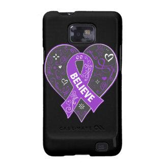 El cáncer del ESENCIAL cree el corazón de la cinta Samsung Galaxy S2 Carcasas