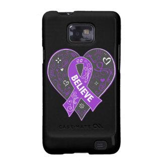 El cáncer del ESENCIAL cree el corazón de la cinta Samsung Galaxy SII Carcasas