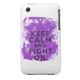 El cáncer del ESENCIAL guarda calma y sigue luchan iPhone 3 Case-Mate Protector