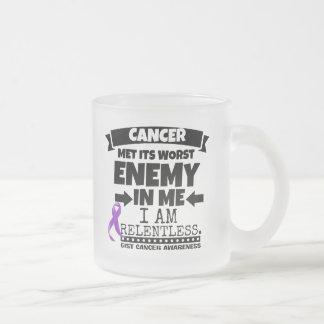 El cáncer del ESENCIAL hizo frente a su enemigo Taza De Café Esmerilada