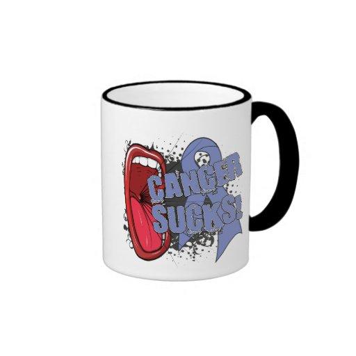 El cáncer del esófago chupa grito él taza de café