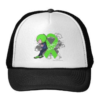 El cáncer del linfoma chupa el muchacho gorras