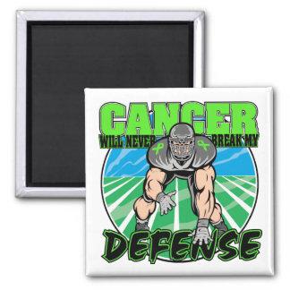 El cáncer del linfoma nunca romperá mi defensa iman de frigorífico