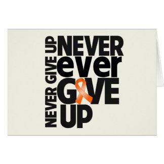 El cáncer del riñón da nunca nunca para arriba tarjeton