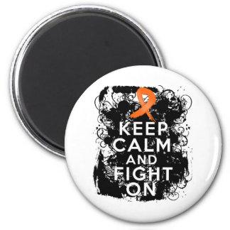 El cáncer del riñón guarda calma y sigue luchando imán redondo 5 cm