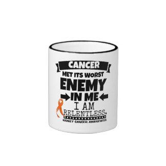 El cáncer del riñón hizo frente a su enemigo peor taza de dos colores