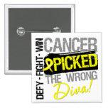 El cáncer del sarcoma escogió a la diva incorrecta pin cuadrado