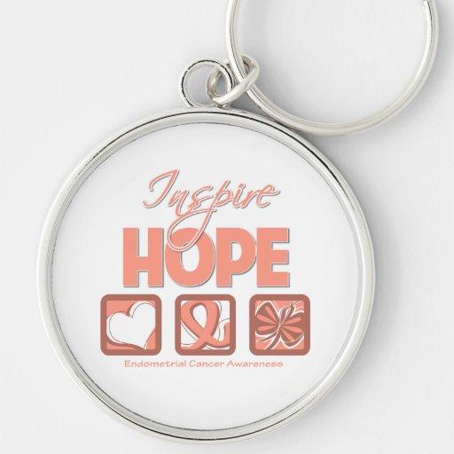 El cáncer endometrial inspira esperanza llaveros
