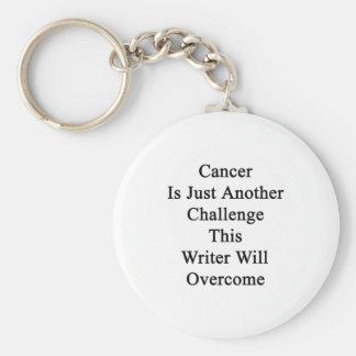 El cáncer es apenas otro desafío que este escritor llavero personalizado