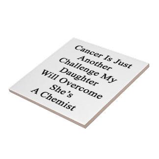 El cáncer es apenas otro desafío que mi hija lo va azulejo cuadrado pequeño