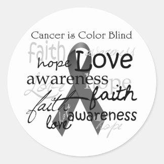 El cáncer es daltónico pegatina redonda