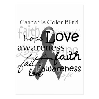 El cáncer es daltónico tarjeta postal