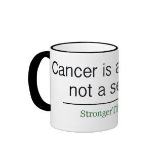El cáncer es una palabra, no una frase taza de dos colores