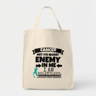 El cáncer ginecológico hizo frente a su enemigo bolsa tela para la compra