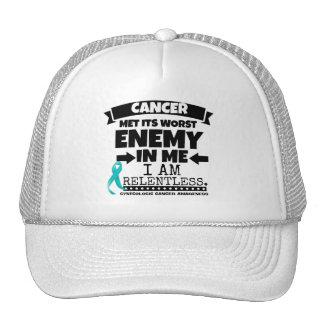 El cáncer ginecológico hizo frente a su enemigo gorra