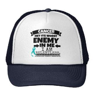 El cáncer ginecológico hizo frente a su enemigo gorro de camionero