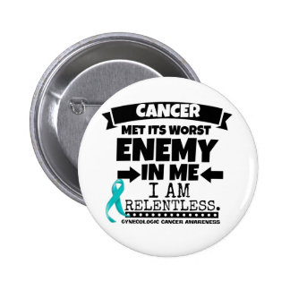 El cáncer ginecológico hizo frente a su enemigo pin redondo de 2 pulgadas