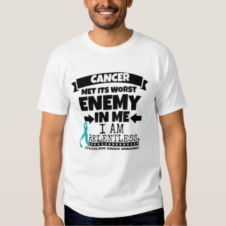 El cáncer ginecológico hizo frente a su enemigo playeras