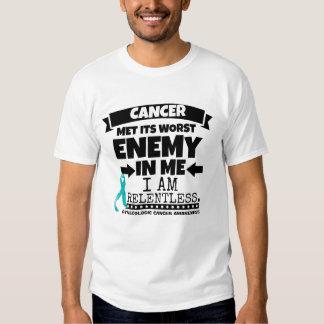 El cáncer ginecológico hizo frente a su enemigo remera