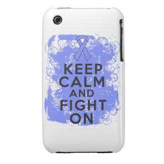 El cáncer intestinal guarda calma y sigue luchando Case-Mate iPhone 3 protector
