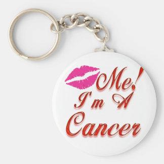 el cáncer me besa zodiaco llavero redondo tipo pin
