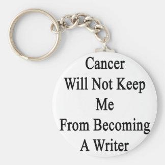 El cáncer no me guardará de hacer escritor llavero