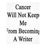 El cáncer no me guardará de hacer escritor plantilla de membrete