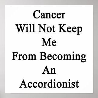 El cáncer no me guardará de hacer un acordeón posters