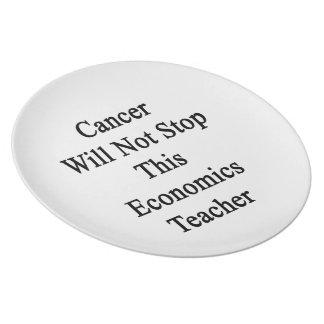 El cáncer no parará a este profesor de la economía platos