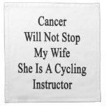 El cáncer no parará a mi esposa que ella es un Ins Servilleta De Papel